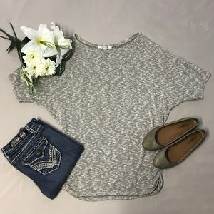 Forever 21 Heathered Ruched Dolman Sweater